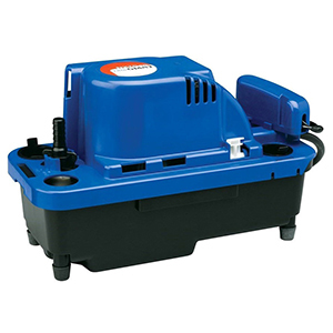 """1-1/8"""" Inlet, 3/8"""" Barbed Outlet, 115 VAC 60 Hz, 1.5 A, 1/30 HP, 9.1 PSI, 84 GPH, Automatic, Vertical Centrifugal, High Capacity, Condensate Removal Pump"""
