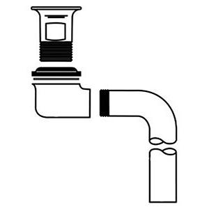 "Mcguire Bathroom Strainer 2-1/4"" X 2-9/16"", Chrome Plated, Cast Brass, Offset Grid"