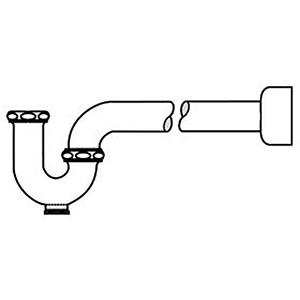 """Mcguire P-TRAP With Cleanout Plug 1-1/2"""" X 1-1/2"""", Slip Nut X Flanged, Chrome Plated Cast Brass, Adjustable, Straight"""