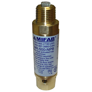 """1/2"""" X 1/2"""", MPT X FPT, 20 To 80 PSI, Lead-free, Brass, Pressure Drop Activated, Trap Seal Primer"""