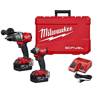 "M18 2-Tool Combo Kit - 1/2"" Hammer Drill, Hex Impact Driver, Combination Power Tool Kit"
