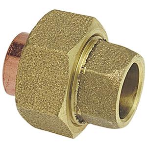 """1 ¼"""" C x C Cast DZR Silicone Bronze Alloy Straight Union Lead Free"""