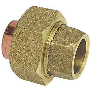 "1 ½"" C x C Cast DZR Silicone Bronze Alloy Straight Union Lead Free"