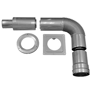 """Noritz Horizontal Kit For Vent Pipe 5.8 To 13.2"""" Thick, Stainless Steel, Standard Concentric, Double Wall 1956151"""