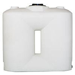 Norwesco 300 Gallon White Freestanding Doorway Tank 1992624