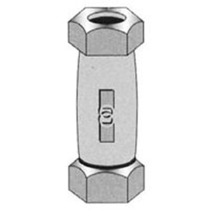 "1"" Compression Galvanized Steel Straight Coupling"
