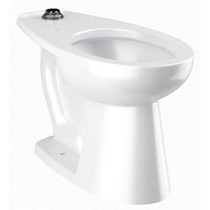 "26-1/8"" Or 28-1/8"" X 15-7/8"", 10"" Or 12"" Rough-in, 17"" Bowl Height, 1.1 To 1.6 GPF, White, Vitreous China, Floor Mount, Elongated Bowl, Water Closet"