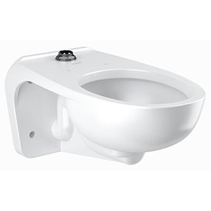 """26-3/4"""" X 15"""" X 13-1/4"""", 5-1/8"""" Rough-in, 13-1/4"""" Bowl Height, 1.1 To 1.6 GPF, White, Vitreous China, Wall Mount, Elongated Bowl, Universal, Water Closet"""
