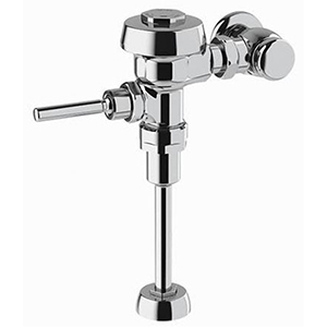 """Urinal Flushometer 3/4"""", IPS INLET, 1 GPF, Polished Chrome Semi-Red Brass, Top Mount, Manual Top Spud, Oscillating Non-Hold Open Handle, Diaphragm, Exposed, 1-Flush"""
