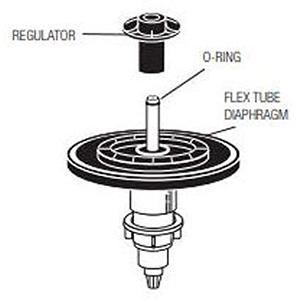 Flex Tube Diaphragm Kit, 1.6 GPF/6.0 LPF Closet