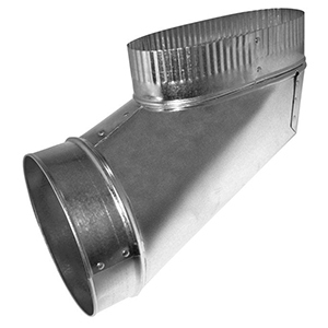 """6"""", Hot Dip Galvanized Steel, Reverse, Oval To Round, Sheet Metal Duct End Boot"""