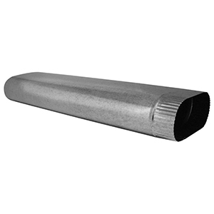 "5"" X 112"", 30 Gauge, Hot Dip Galvanized Steel, Oval, Sheet Metal Duct Pipe"