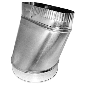 """8"""", Hot Dip Galvanized Steel, Straight, Oval To Round, Sheet Metal Duct Boot"""