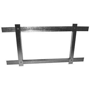 "14"" X 6"", Hot Dip Galvanized Steel, Return Air, Sheet Metal Duct Frame"