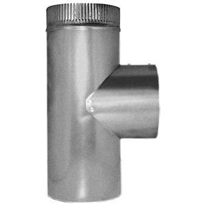 """4"""" X 4"""" X 4"""", 26 Gauge, Hot Dip Galvanized Steel, Sheet Metal Duct Tee"""