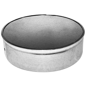 """4"""", Hot Dip Galvanized Steel, Sheet Metal Duct End Cap With Handle"""
