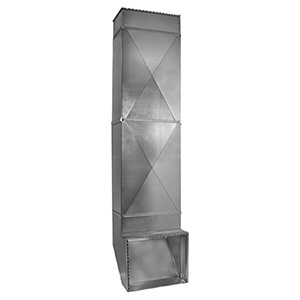 """25"""" X 10 To 25"""" X 16"""", Hot Dip Galvanized Steel, Sheet Metal Duct Return Air/cold Air Package"""