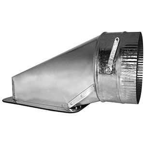 """7"""", Hot Dip Galvanized Steel, Air Tight, Top, Sheet Metal Duct Takeoff With Damper"""