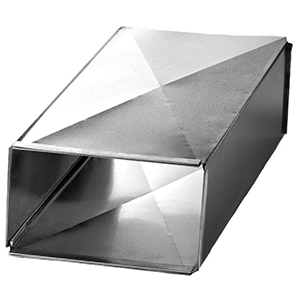 "18"" X 8"" X 48"", Hot Dip Galvanized Steel, Sheet Metal Trunk Duct"