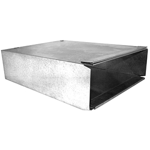 "60"" X 14"" X 3-1/4"", Hot Dip Galvanized Steel, Sheet Metal Duct Wallstack"