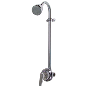 """1/2""""-14 Tpi X 1/2""""-14 Tpi, Fpt X Fpt, 20 To 80 Psi, 2 GPM, Chrome Plated, Cast Brass, Pressure Balancing Valve, 1-lever Handle, Exposed, Shower Faucet"""