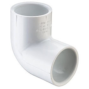 "1 ½"" Socket Straight Schedule 40 PVC 90 Degree Elbow"