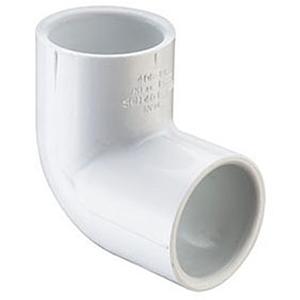 "6"" Socket Straight Schedule 40 PVC 90 Degree Elbow"