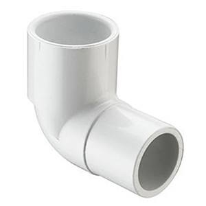 "2"" Spigot x Socket Straight and Street Schedule 40 PVC 90 Degree Elbow"