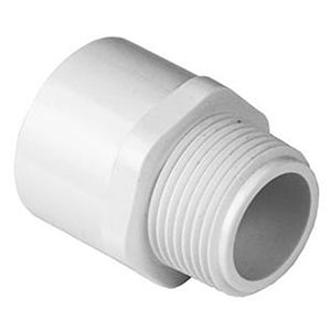 "1""MIPT x Socket Straight Schedule 40 PVC Adapter"