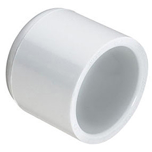 "6"" Socket Schedule 40S Straight PVC Cap"