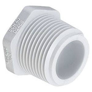 "2"" MIPT Straight Schedule 40 PVC Plug"