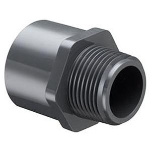 "2"" MIPT x Socket Straight Schedule 80 PVC Adapter"