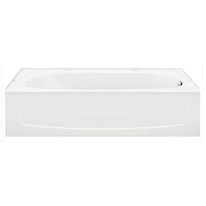 "60"" X 29"" X 16-1/4"", 35 Gallon, Right Drain, White/high Gloss, Solid Vikrell, 3-wall Alcove, Bathtub"