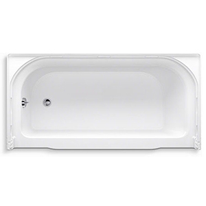 "60"" X 30"", Left Drain, White, Solid Vikrell, 3-wall Alcove, Bathtub"