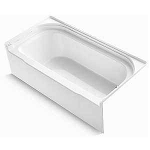 "60"" X 30"", 34 Gallon, Right Drain, White/high Gloss, Solid Vikrell, 3-wall Alcove, Bathtub"