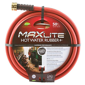 "Garden Hose 5/8"" X 50', Lead-Free, Red, Rubber Core"