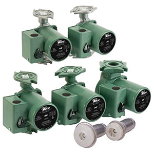 """3/4 To 1-1/2"""", Flanged X Flanged, 115 VAC 60 Hz 1-phase, 0.85 A, 1/20 HP, 125 PSI, 18 GPM , 3250 RPM, 17' Discharge Head, Lead-free, Cast Iron, 3-speed, Cartridge Circulator Pump With Integral Flow Check"""