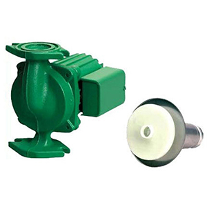 """3/4 To 1-1/2"""", Flanged X Flanged, 115 VAC 60 Hz 1-phase, 1.4 A, 1/8 HP, 150 PSI, 10 GPM , 3250 RPM, 35' Discharge Head, Lead-free, Cast Iron, Cartridge Circulator Pump"""