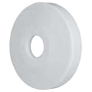 "1/2"" CTS, White, Polyethylene, 1-hole, Shallow, Escutcheon"