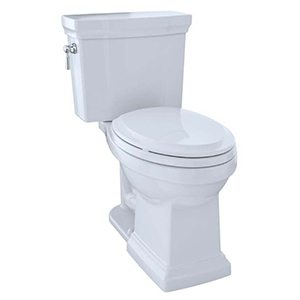 """17-1/4"""" H, 12"""" Rough-in, 1 GPF, Cotton White, Vitreous China, Floor Mount, Elongated Front, Bowl With Cefiontect Ceramic Glaze For Promenade Ii Cst404cuf(g) 2-piece Close Coupled Toilet"""