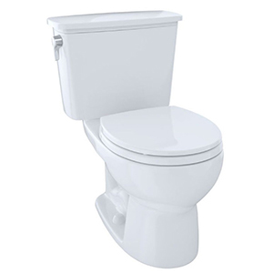 "15-5/8"" H, 12"" Rough-in, 1.28 GPF, Cotton White, Vitreous China, Floor Mount, Round Front, Bowl For Eco Drake Cst743e(r)n 2-piece Transitional Toilet"