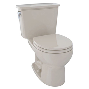 """15-5/8"""" H, 12"""" Rough-in, 1.28 GPF, Bone, Vitreous China, Floor Mount, Round Front, Bowl For Eco Drake Cst743e(r)n 2-piece Transitional Toilet"""