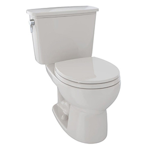 """15-5/8"""" H, 12"""" Rough-in, 1.28 GPF, Sedona Beige, Vitreous China, Floor Mount, Round Front, Bowl For Eco Drake Cst743e(r)n 2-piece Transitional Toilet"""