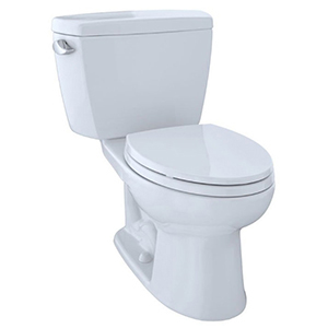 "15-5/8"" H, 12"" Rough-in, 1.28 GPF, Cotton White, Vitreous China, Floor Mount, Elongated Front, Bowl For Eco Drake Cst744e(g)(r)(b) 2-piece Close Coupled Toilet"