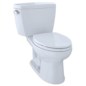 "17-5/8"" H, 12"" Rough-in, 1.28 GPF, Cotton White, Vitreous China, Floor Mount, Elongated Front, Bowl For Eco Drake Cst744el 2-piece Close Coupled Toilet"