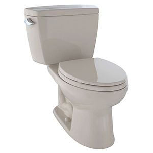 """17-5/8"""" H, 12"""" Rough-in, 1.28 GPF, Bone, Vitreous China, Floor Mount, Elongated Front, Bowl For Eco Drake Cst744el 2-piece Close Coupled Toilet"""