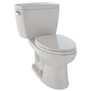 """17-5/8"""" H, 12"""" Rough-in, 1.28 GPF, Sedona Beige, Vitreous China, Floor Mount, Elongated Front, Bowl For Eco Drake Cst744el 2-piece Close Coupled Toilet"""
