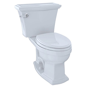 """17-1/4"""" H, 12"""" Rough-in, 1.28 GPF, Cotton White, Vitreous China, Floor Mount, Elongated Front, Bowl For Eco Clayton Cst784ef 2-piece Close Coupled Toilet"""
