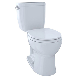 Entrada™ Two-piece Round 1.28 GPF Universal Height Toilet, Cotton White - Cst243ef#01