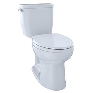 Entrada™ Two-piece Elongated 1.28 GPF Universal Height Toilet, Cotton White - Cst244ef#01